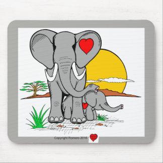 Mousepad Elefantes da arte do coração