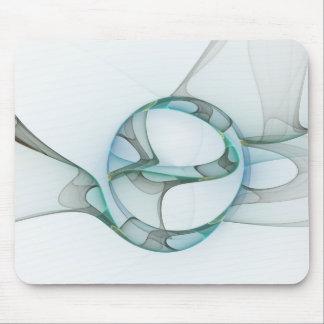 Mousepad Elegância azul do abstrato das cinzas de turquesa