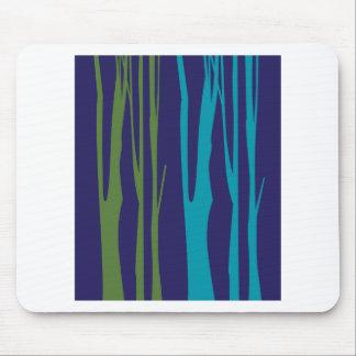 Mousepad Elementos do azul das árvores do DESIGN