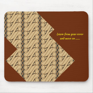 Mousepad Elogio do tapete do rato do estilo do Batik acima