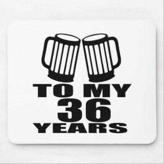 Mousepad Elogios a meus 36 anos do aniversário