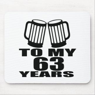 Mousepad Elogios a meus 63 anos do aniversário