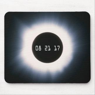 Mousepad Em agosto de 2017 eclipse solar total em preto e