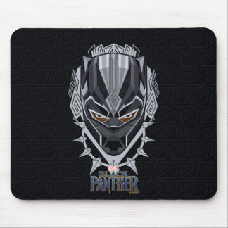 Mousepad Emblema da cabeça da pantera preta de pantera