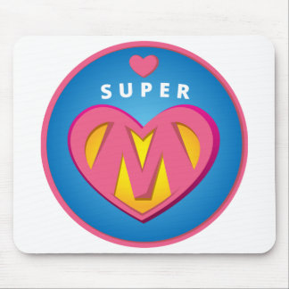 Mousepad Emblema engraçado da mamã do Superwoman do