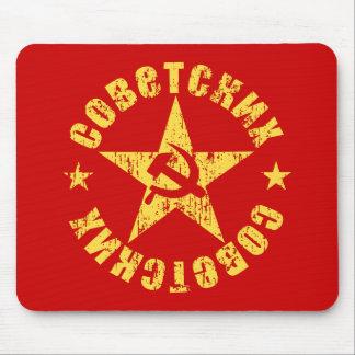 Mousepad Emblema soviético da estrela do martelo & da foice
