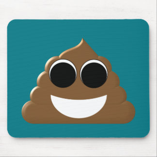 Mousepad Emoji engraçado Poo