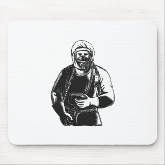 Mousepad EMT que veste o terno Scratchboard de Hazmat