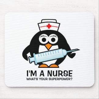 Mousepad engraçado dos cuidados com a enfermeira