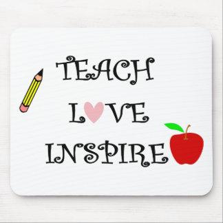 Mousepad ensine o amor inspiram