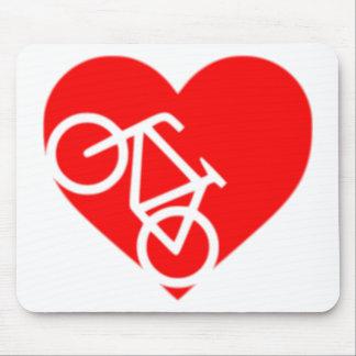 Mousepad entalhe da bicicleta do coração