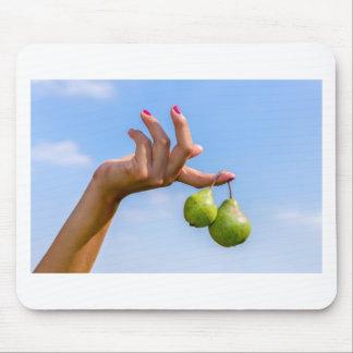 Mousepad Entregue guardarar duas peras verdes de suspensão
