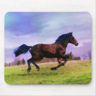 Mousepad Equestrian ocidental de funcionamento do potro do