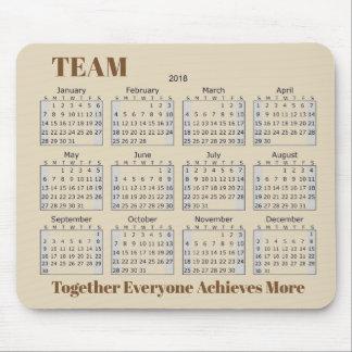 Mousepad EQUIPE de 2018 calendários