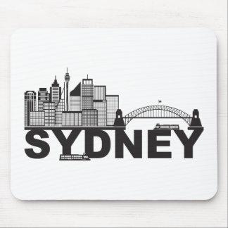Mousepad Esboço do texto de Sydney Austrália Sklyine