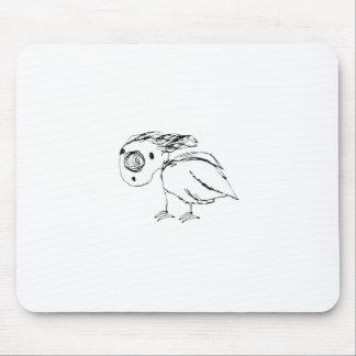 Mousepad Esboço insolúvel do pássaro acima