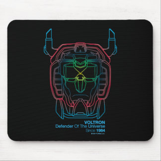 Mousepad Esboço piloto da cabeça do inclinação das cores de