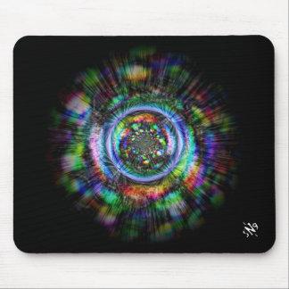 Mousepad Esboço psicadélico colorido de um olho