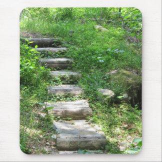 Mousepad Escadaria no tapete do rato da floresta
