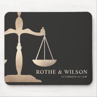 Mousepad Escalas do advogado do ouro de justiça Brown