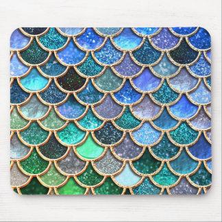 Mousepad Escalas multicoloridos Springlike da sereia do