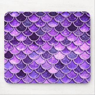 Mousepad Escalas ultravioletas da sereia do brilho