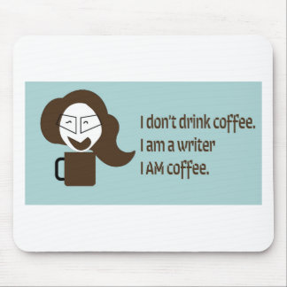 Mousepad Escritor louco do café