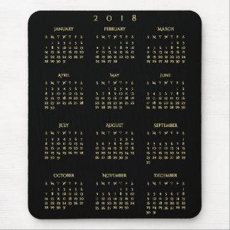 Mousepad Escritório domiciliário anual do preto do ouro de
