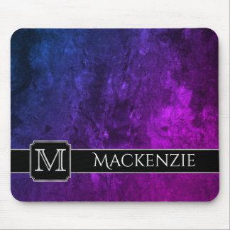 Mousepad Escritório | Ombre azul cor-de-rosa roxo conhecido
