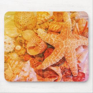 Mousepad Escudos da estrela do mar e do mar (2) -