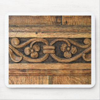 Mousepad escultura de madeira do painel