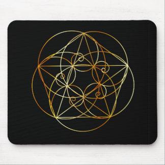 Mousepad Espiral de Fibonacci a geometria sagrado