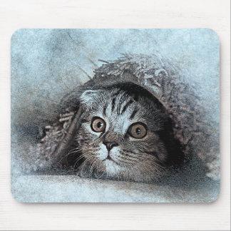 Mousepad Espreite uma aguarela do abstrato | do retrato |