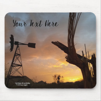 Mousepad Esqueleto do cacto do moinho de vento e do Saguaro
