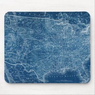 Mousepad Esquema de Mapa dos EUA