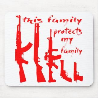 Mousepad Esta família protege minha família