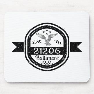 Mousepad Estabelecido em 21206 Baltimore