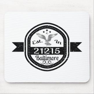 Mousepad Estabelecido em 21215 Baltimore