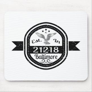 Mousepad Estabelecido em 21218 Baltimore