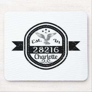 Mousepad Estabelecido em 28216 Charlotte
