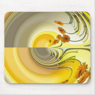 Mousepad Esteira amarela do rato do design da rotação