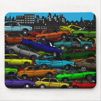 Mousepad Esteira clássica do rato de Scrapyard do carro