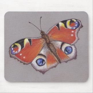 Mousepad Esteira do rato da borboleta de pavão