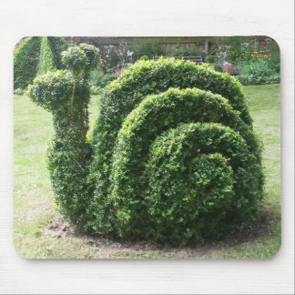 Mousepad Esteira do rato do verde do caracol do Topiary