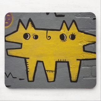 Mousepad esteira Dobro-dirigida do rato da arte da rua do