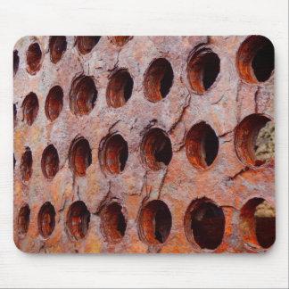 Mousepad Esteira perfurada oxidada do rato do metal