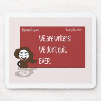 Mousepad Estilo louco do escritor do café
