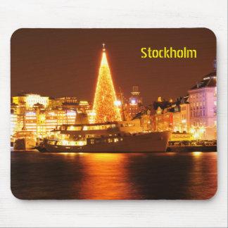Mousepad Éstocolmo, suecia no Natal na noite
