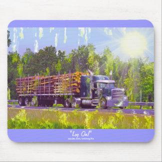 Mousepad Estrada de registo do caminhão que conduz a arte