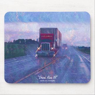 Mousepad Estrada vermelha do caminhão que conduz na arte